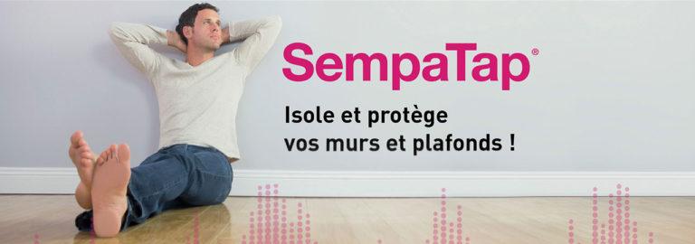 Découvrez SempaTap, un produit d'isolation thermique et d'absorption acoustique pour murs et plafonds.