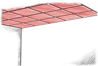 Insertion des panneaux acoustiques WOOPIES dans un système de plafond à grille