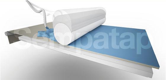 Process de fabrication Sempatap : Moussage et calandrage hauteur