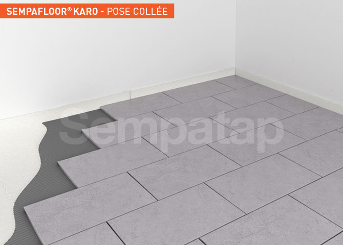 SempaFloor Karo, isolation phonique sous carrelage