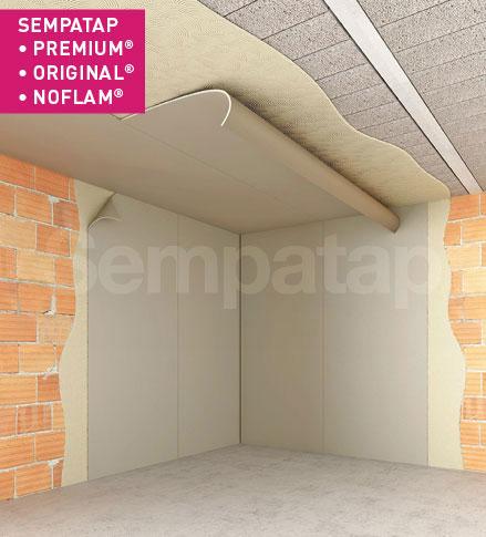 SempaTap Premium, Original et Noflam sont des solutions polyvalentes d'isolation thermique et d'absorption acoustique, efficaces contre l'humidité et les fissures.