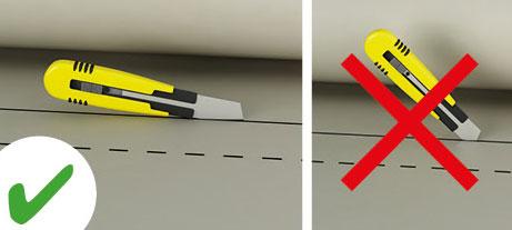 Les produits d'isolation phonique, thermique et d'absorption acoustique sont faciles à découper au cutter.